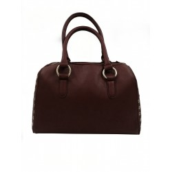 Sinsay women's bag, brown color with rivets