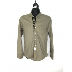 Cropp men's shirts, light brown color with military ornament