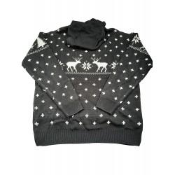 "Cropp men's sweater ""christmas"", black color RP312-59X"