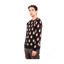 "Cropp men's sweater ""christmas"", black color UE625-79X"