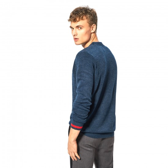"Cropp men's  sweater ""Bears"", navy blue color"