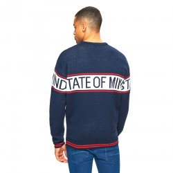 """Cropp men's sweater navy blue color """"State of mind"""""""