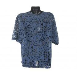Diesel women's blue color t-shirt, translucent fabric
