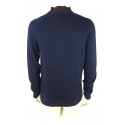 Doppelganger men's sweater navy blue color
