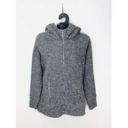 House Women's Sweater / Jogging Top Gray Color with Hoodie, Front Zipper, Long Sleeves
