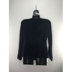 GMJ Reserved women's blazer blue color without clasp barchat texture