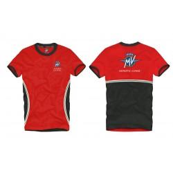 MV Agusta men's t-shirt MV119M000RE red/grey