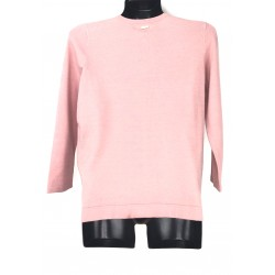 Mohito women's sweater, light pink color with glitter front, glossy buttons