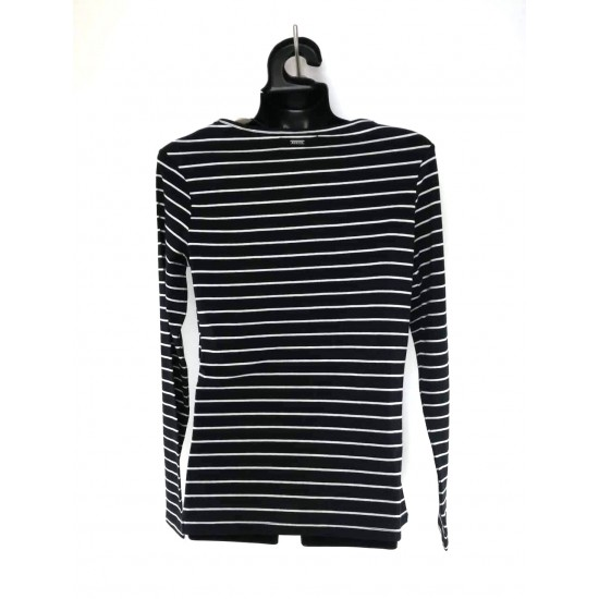 """Mohito Long Sleeve T-Shirt """"My best friend calls me mama"""", black with white stripes"""