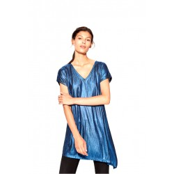 Mohito Women's T-Shirt Royal blue, Glossy, Over Size style
