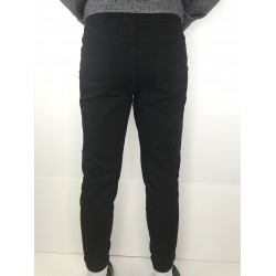 Mohito women's trousers black color with silver stripes at the sides