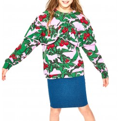 Reserved kids sweater pink / green color