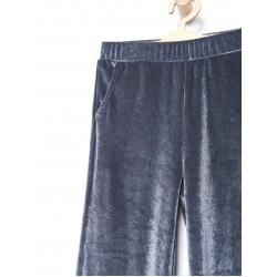 Reserved kids velour pants, gray color UG821-90X