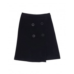 Concept Reserved women's wool skirt with decorative rivets at the front