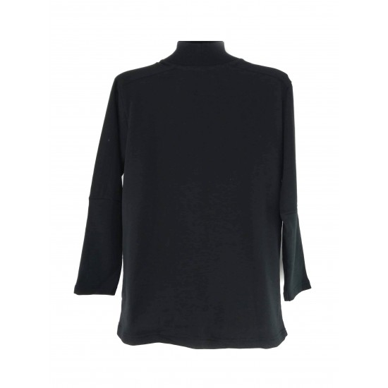 Reserved Men's Sweater / Jogging Top, Black Color, Long Sleeves with Zipper Front
