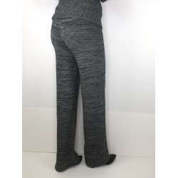 Concept Reserved women's wide trousers gray color with rubber on waist