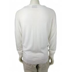Rich men's sweater, off white color
