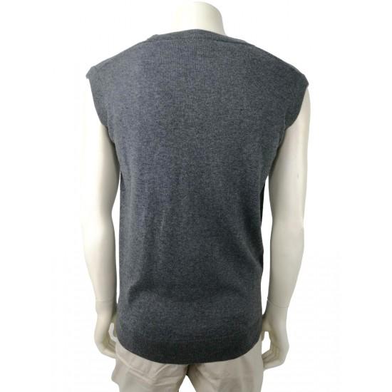 Rich men's sweater/vest, grey color