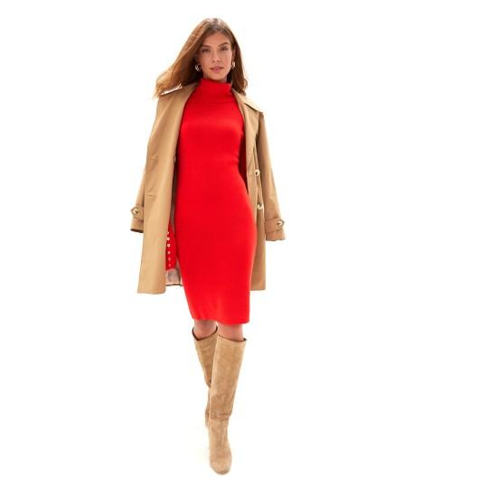 "Silvian Heach women's dress ""TICKY"" pga19212ve red color"