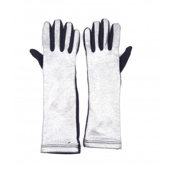 Silvian Heach gloves RCA19185GU BLACK / SILVER