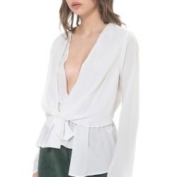 Silvian Heach women's shirt PGA19076BL white