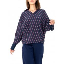 Silvian Heach women's blouse PGA19473BL dark blue