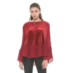 Silvian Heach women's blouse CVA19140BL lipstick