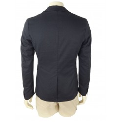 Sisley Men's Cotton Blazer 2zc4526x9 905 Dark Gray Color