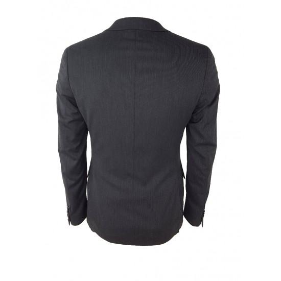 Sisley men's blazer 2ya6526y9 931 dark grey color