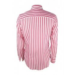 Sisley men's striped shirt, white / pink color 5hm35qeg9 903