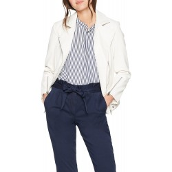 Sisley women's faux leather jacket 2yv8535n7 901 white