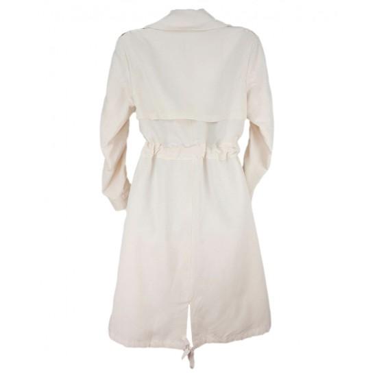 Sisley women's ivory color raincoat 2yn35k2r7 1j6