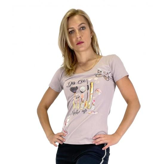 YES ZEE WOMEN'S T-SHIRT T281 / LK00 COL.0452