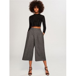 Reserved women's trousers gray, culottes