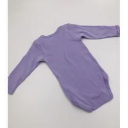 Impidimpi baby bodysuit, purple color, long sleeves