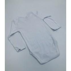 Impidimpi baby bodysuit, white color, long sleeves