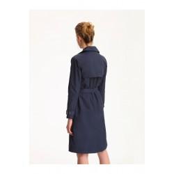 Top secret women's raincoat navy blue with gold closure
